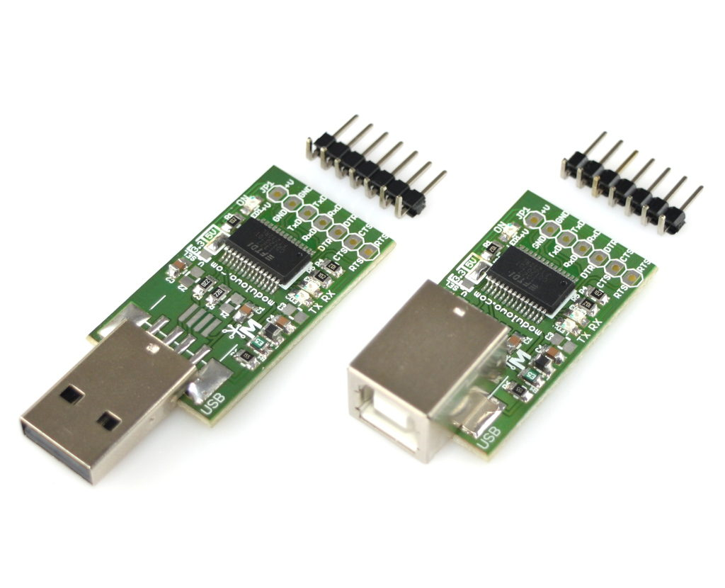 Modulogy - MOD-05-B.Z - USB to UART Converter With 500mA Protection, FT232RL - None